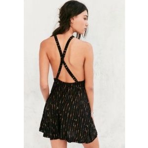Urban Outfitters Pants - UO Ecote // striped high neck romper